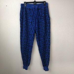 Derek Heart Blue Animal Print Sweat Pants Size L